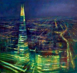 The Shard by Cristina Bergoglio - Original Painting on Stretched Canvas sized 39x37 inches. Available from Whitewall Galleries